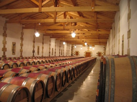 Bordeaux wine in Barrel